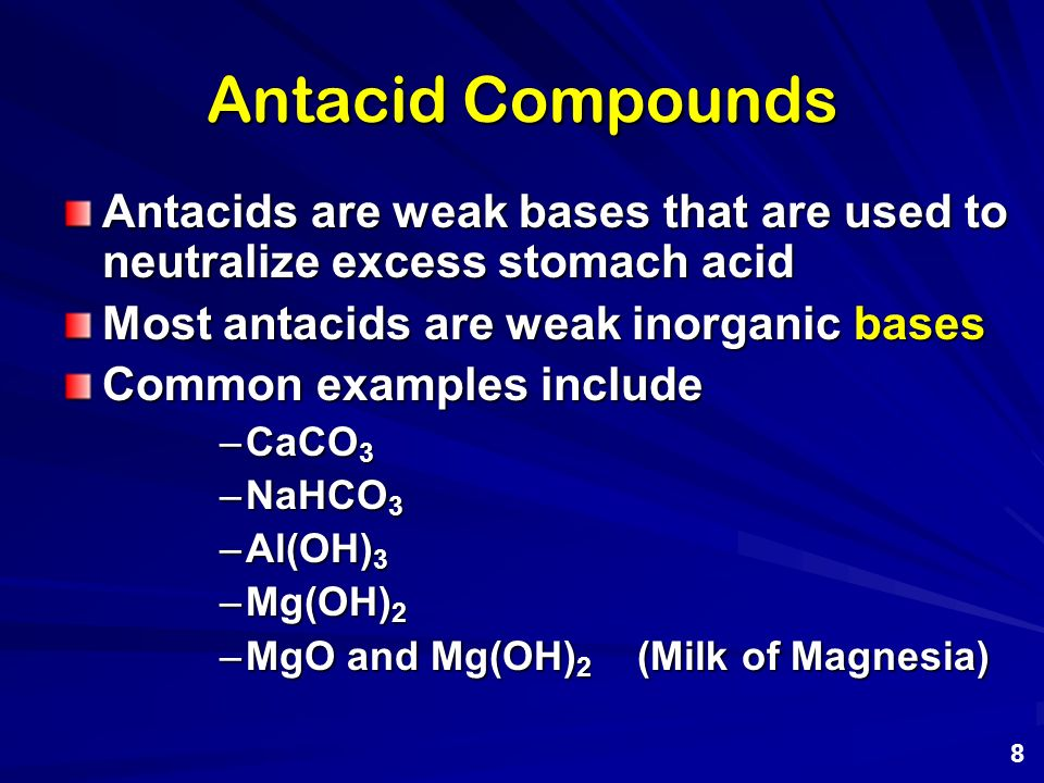 neutralise excess stomach acid essay Acid in the stomach is actually not neutralized in the stomach,  what would be the safest thing to neutralise excess acid in the stomach.