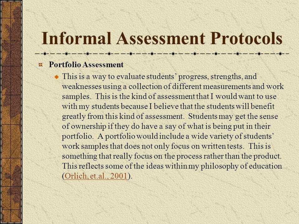 Informal Assessment Protocols