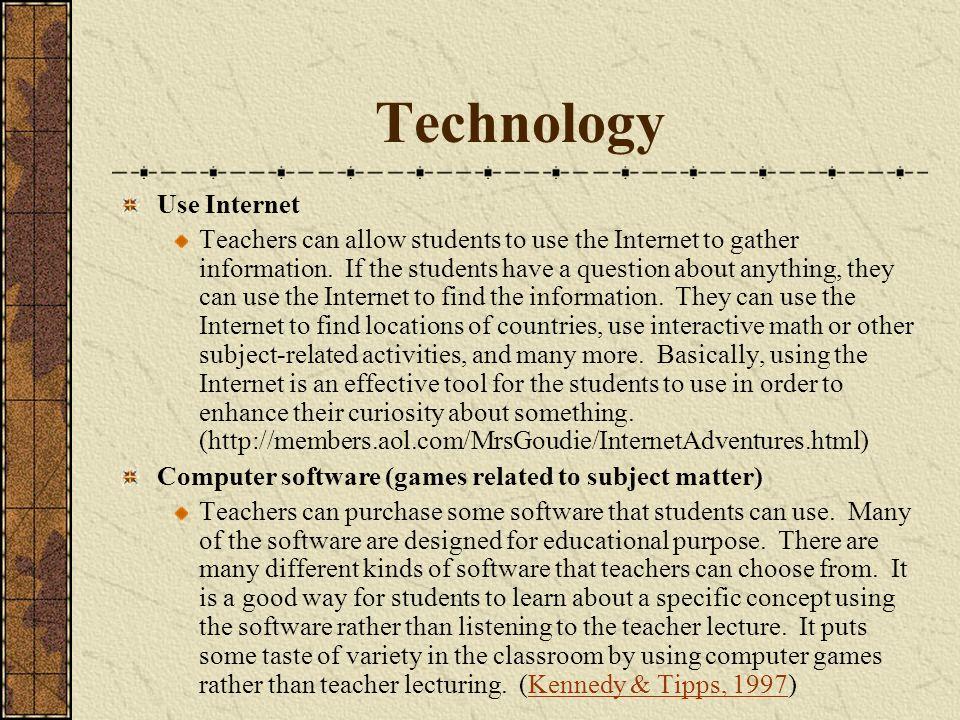 Technology Use Internet