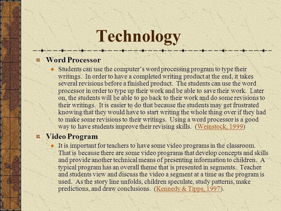Technology Word Processor Video Program
