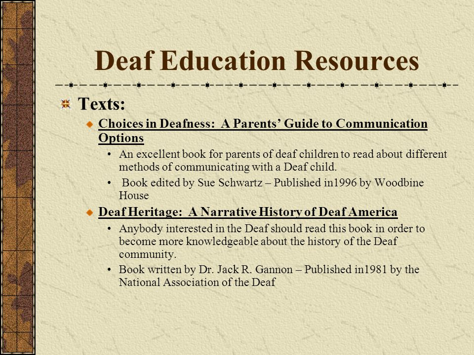 Deaf Education Resources