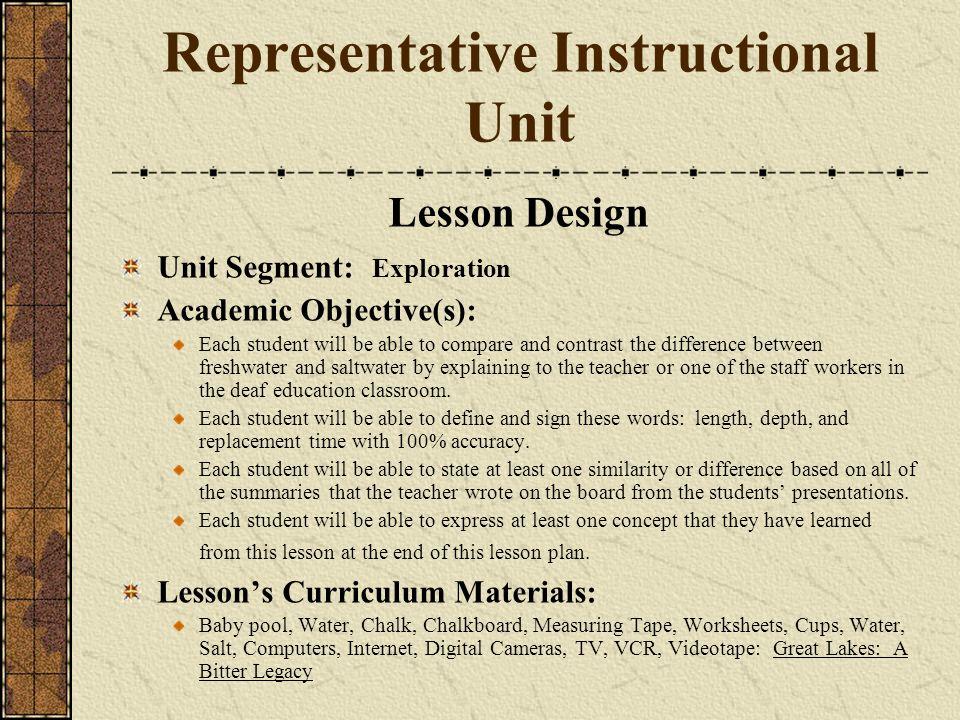 Representative Instructional Unit