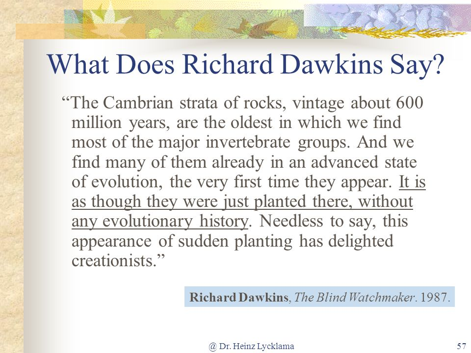 What Does Richard Dawkins Say