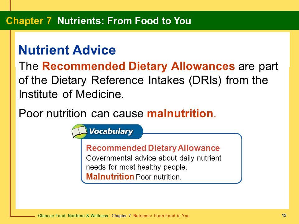 Nutrient Advice