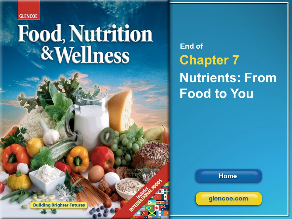 Nutrients: From Food to You