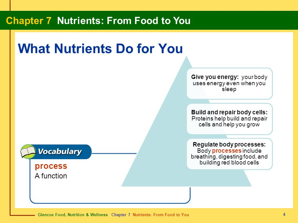 What Nutrients Do for You