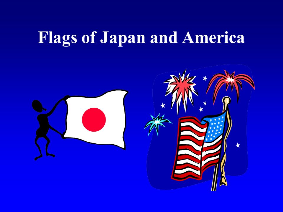 Flags of Japan and America