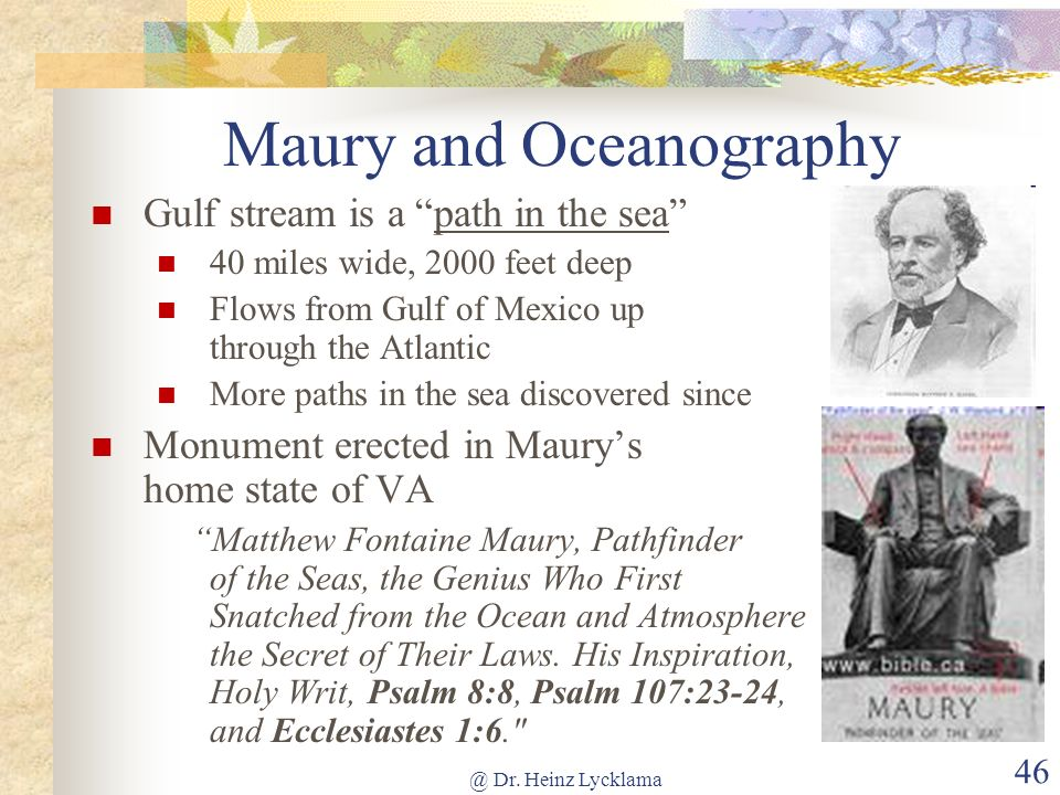 Maury and Oceanography