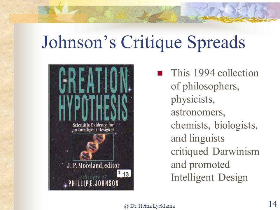 Johnson's Critique Spreads