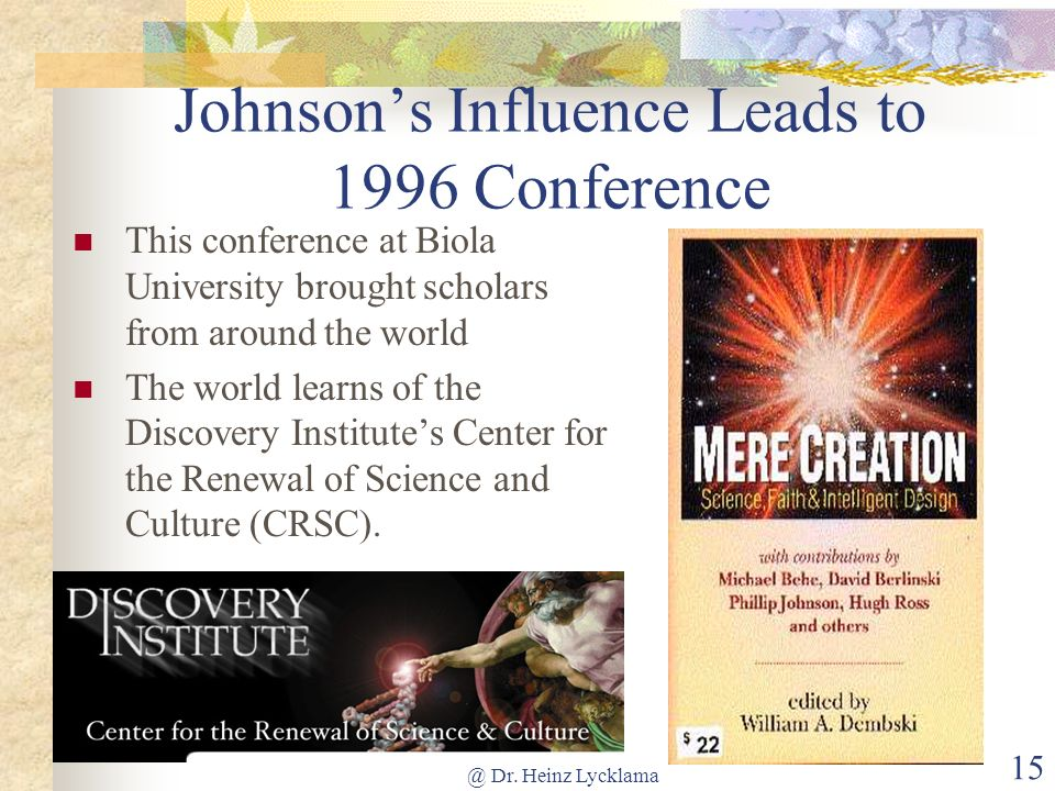 Johnson's Influence Leads to 1996 Conference