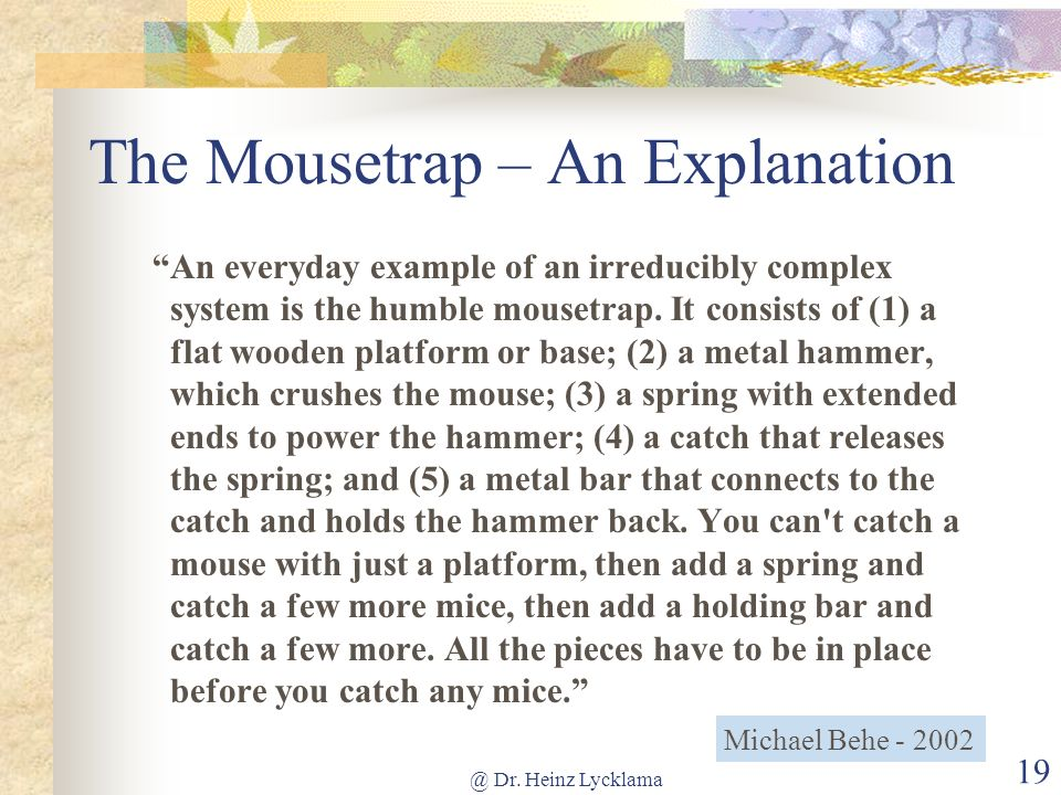 The Mousetrap – An Explanation