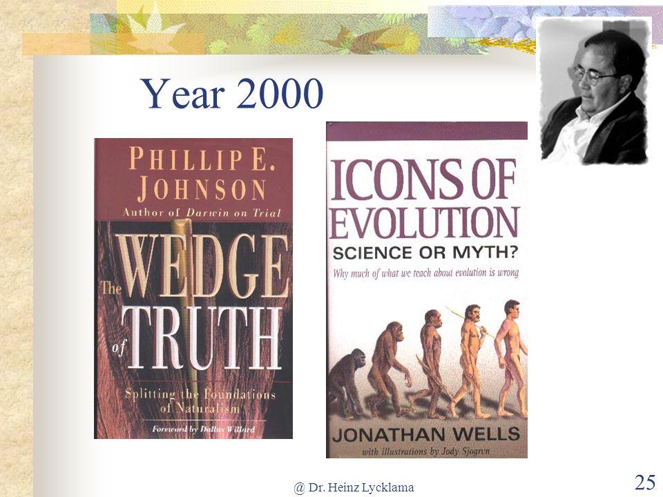Year 2000 @ Dr. Heinz Lycklama