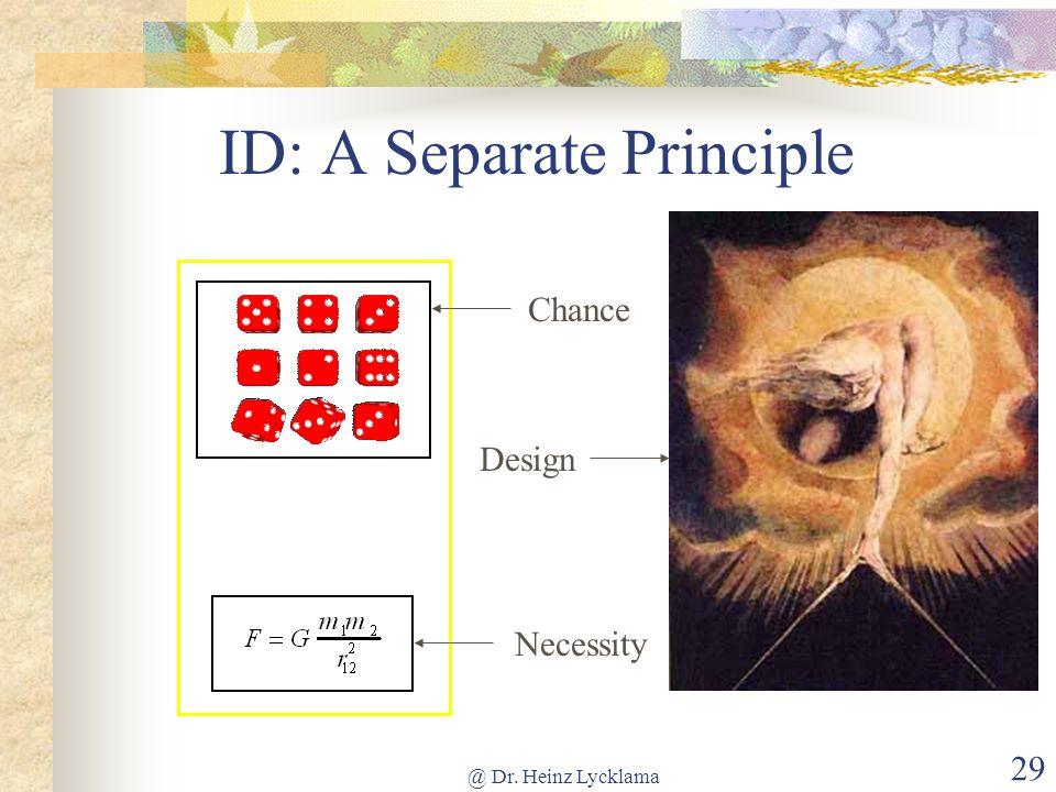 ID: A Separate Principle