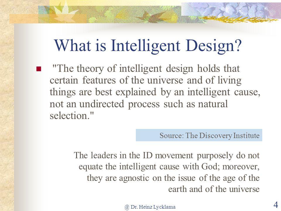 What is Intelligent Design