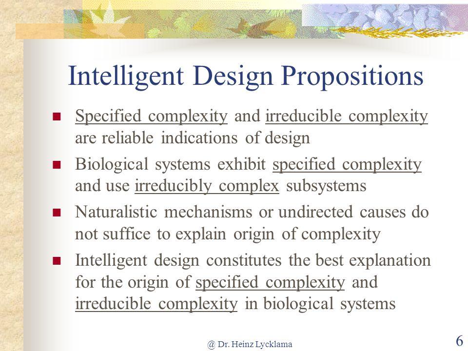 Intelligent Design Propositions