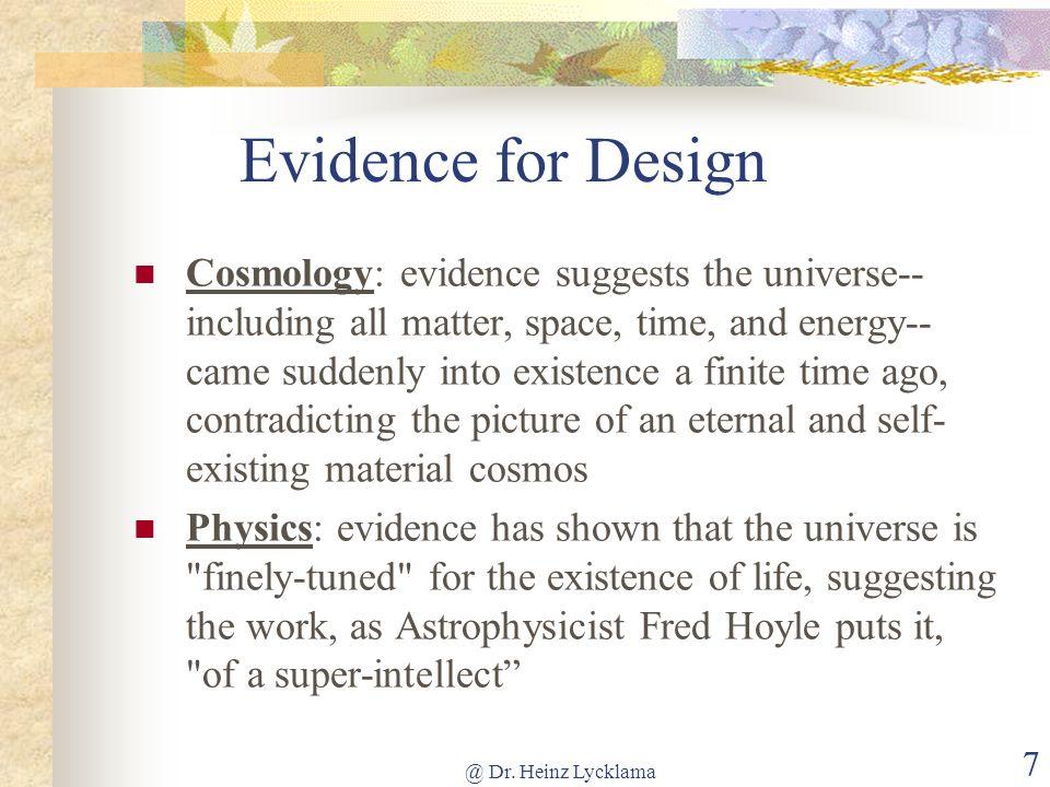Evidence for Design