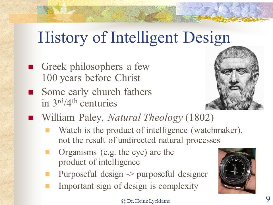 History of Intelligent Design