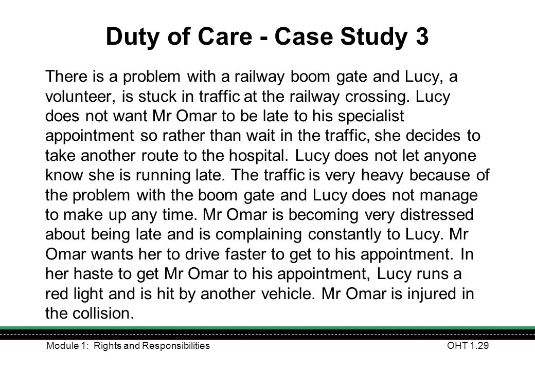 Duty of Care - Case Study 3