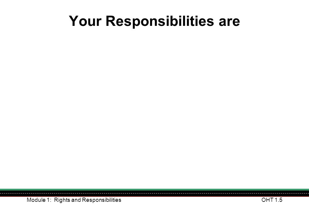 Your Responsibilities are