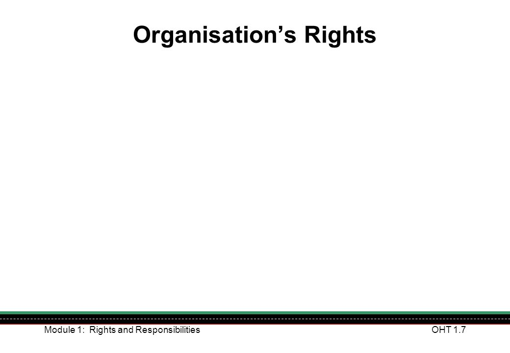 Organisation's Rights