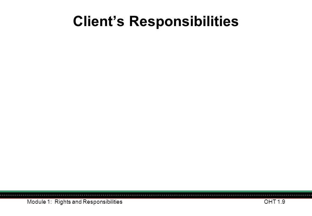 Client's Responsibilities