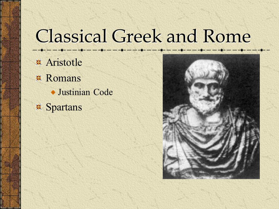 Classical Greek and Rome
