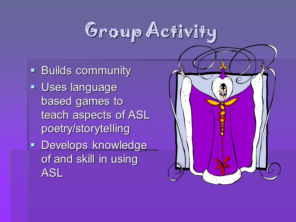 Group Activity Builds community