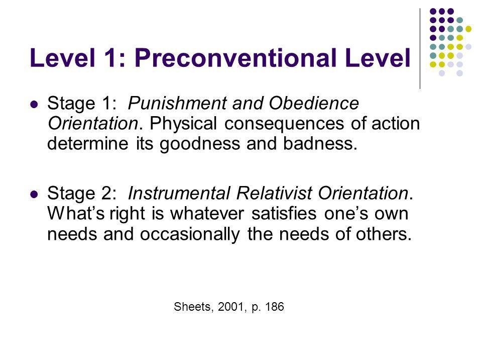 Level 1: Preconventional Level