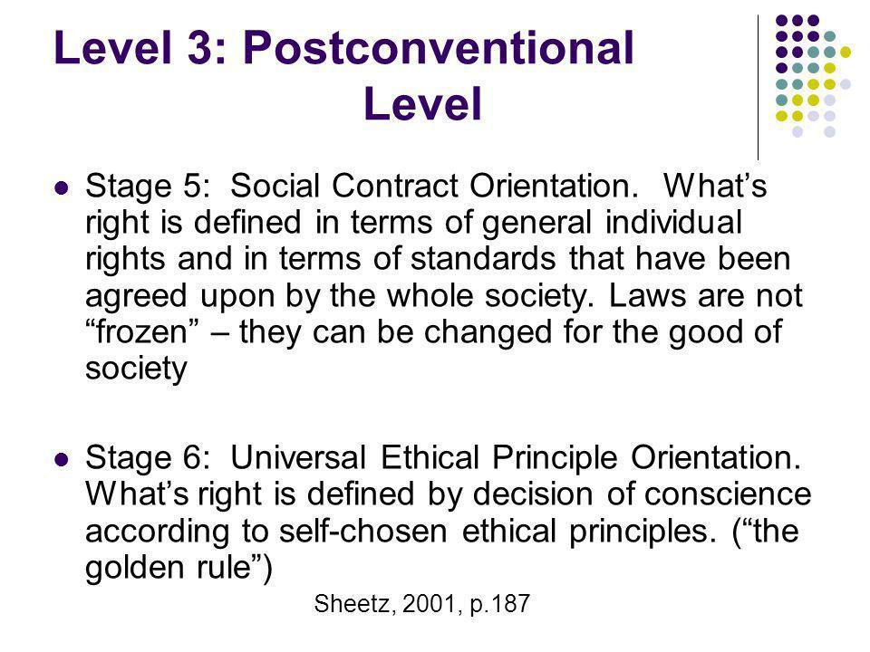 Level 3: Postconventional Level