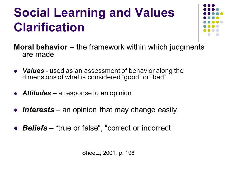 Social Learning and Values Clarification