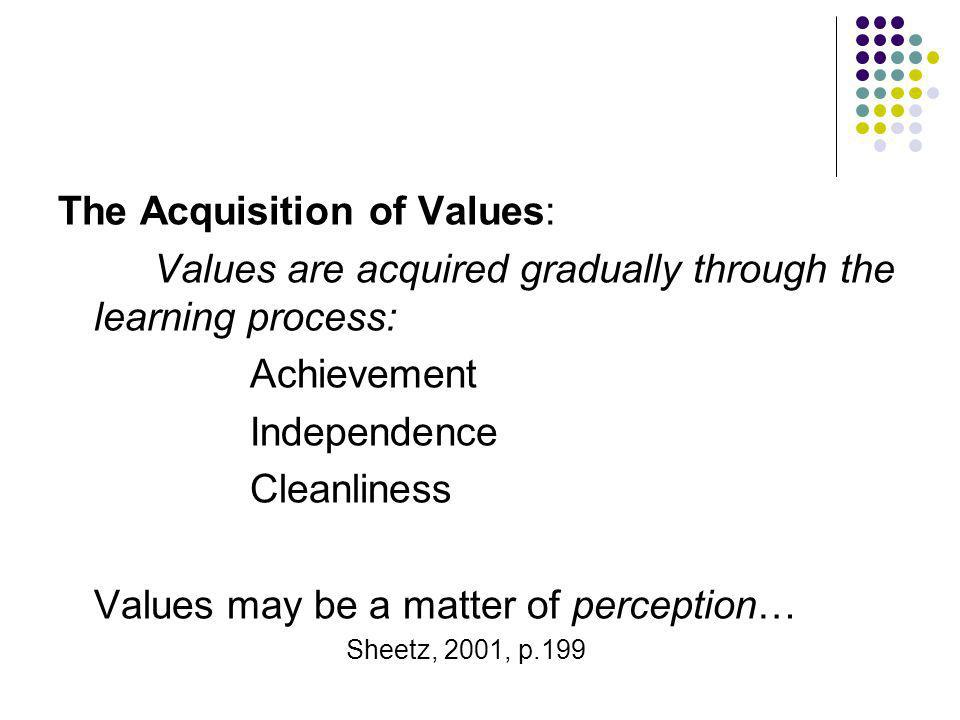 The Acquisition of Values: