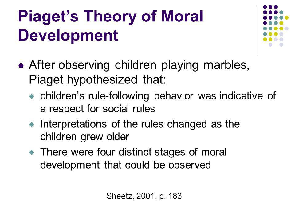Piaget's Theory of Moral Development