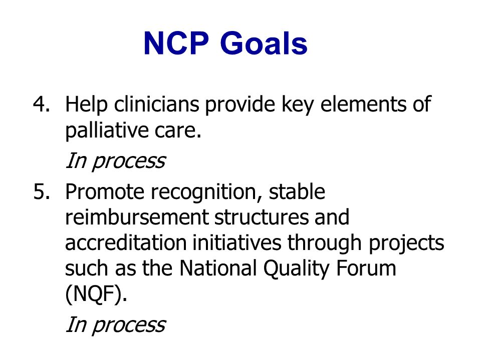 hospice and palliative care the quality imperative ppt