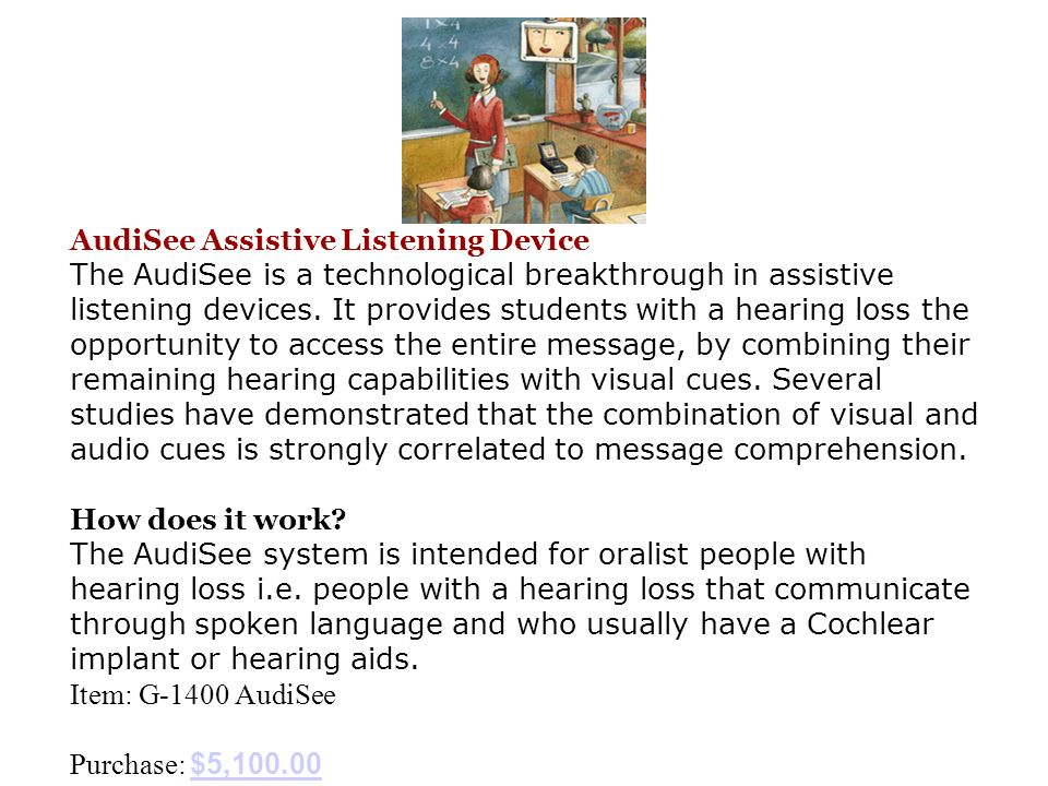 AudiSee Assistive Listening Device