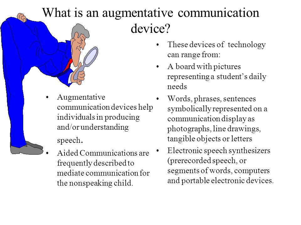 What is an augmentative communication device