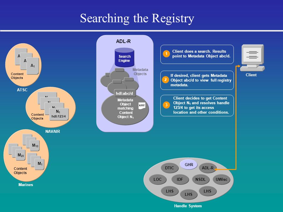 Searching the Registry
