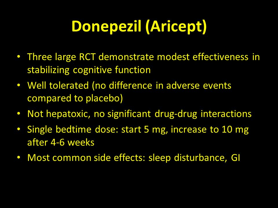 Donepezil 5 Mg Tablet Side Effects