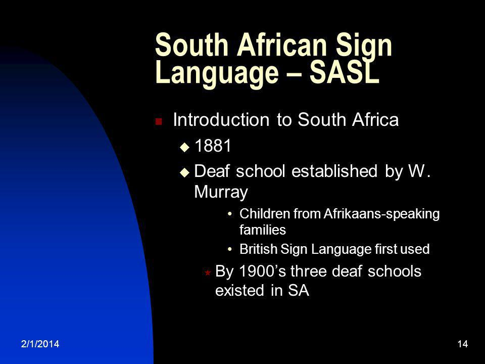 South African Sign Language – SASL