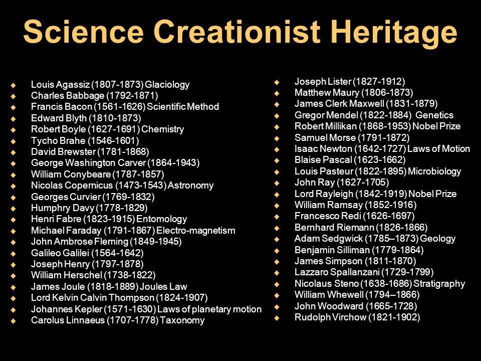 Science Creationist Heritage