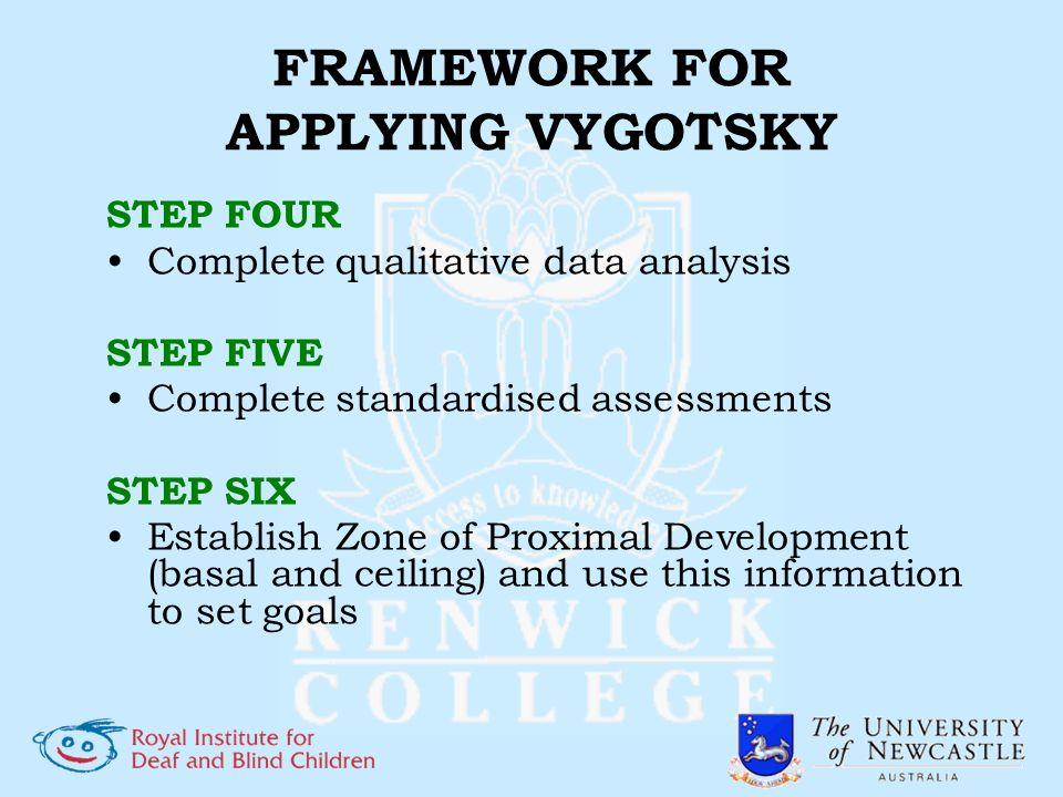 FRAMEWORK FOR APPLYING VYGOTSKY