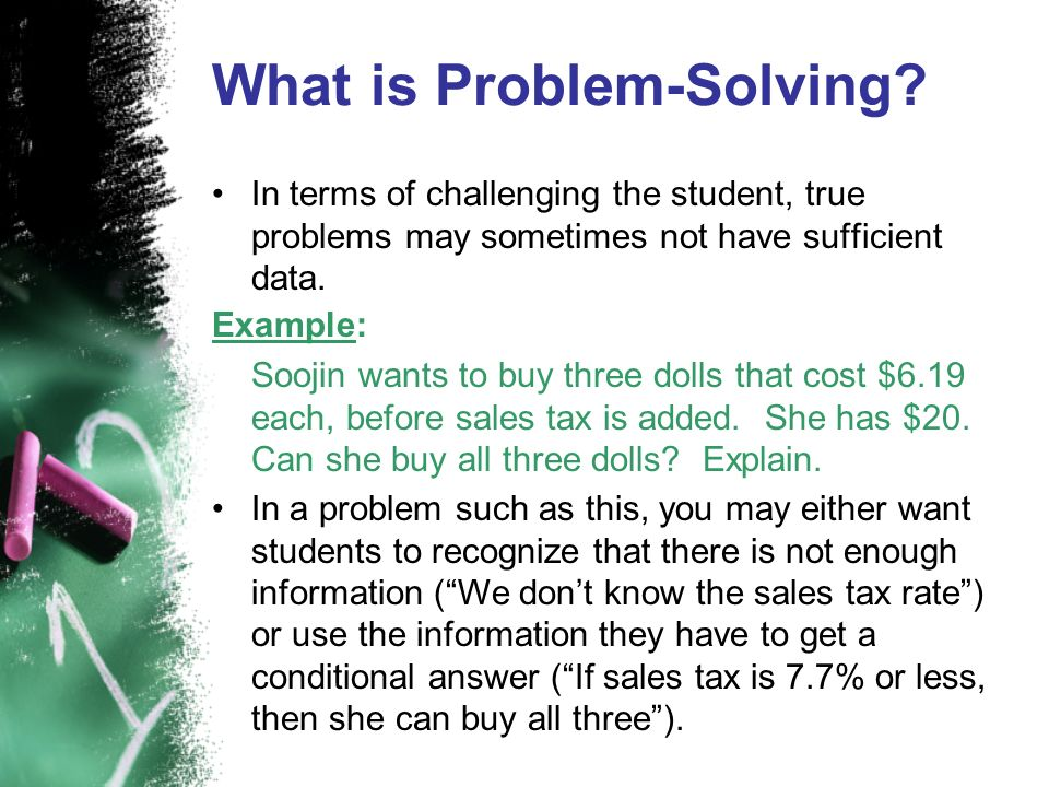 What is Problem-Solving