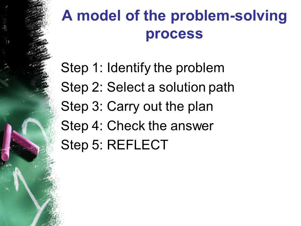 A model of the problem-solving process