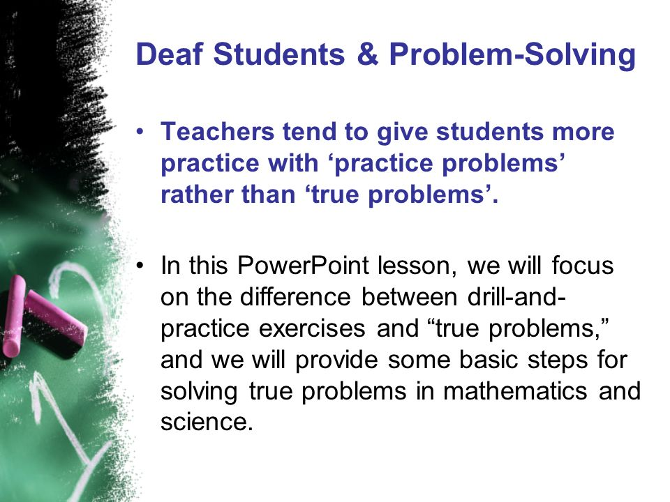 Deaf Students & Problem-Solving