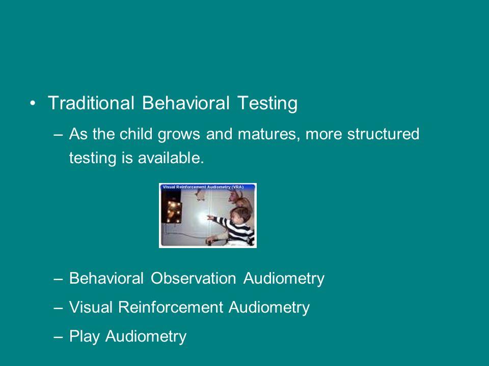 Traditional Behavioral Testing