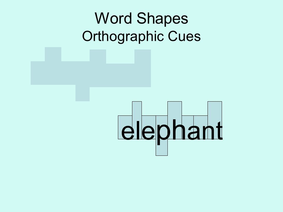 Word Shapes Orthographic Cues