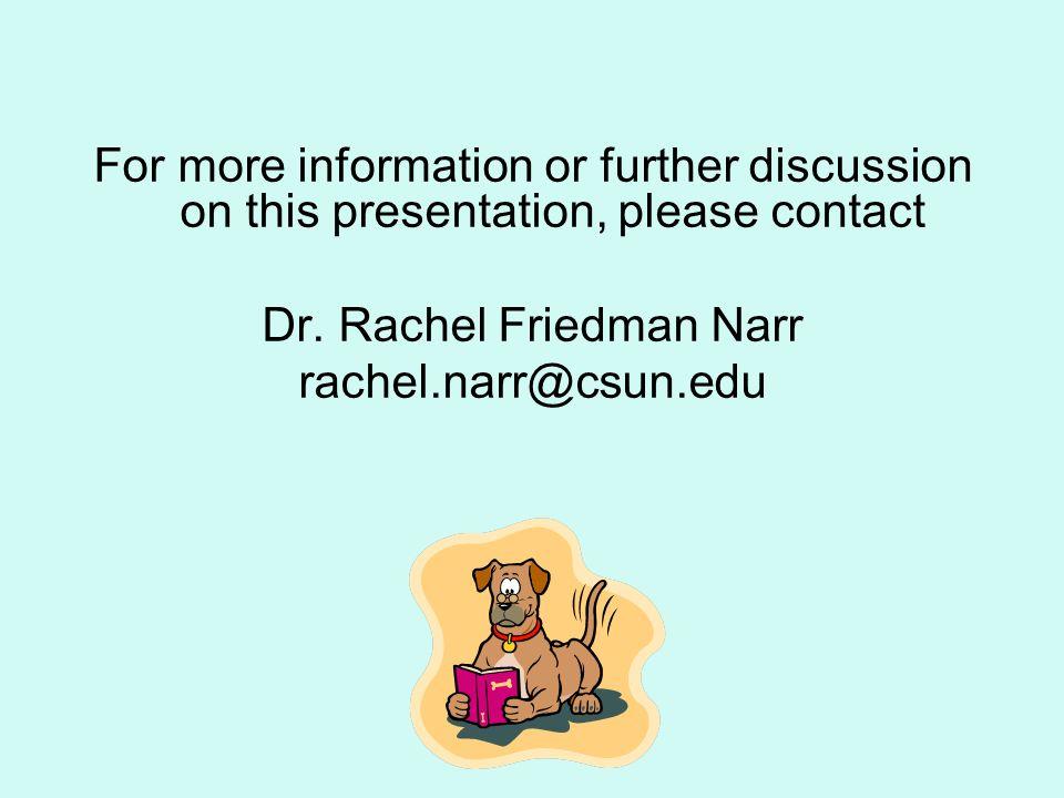 Dr. Rachel Friedman Narr