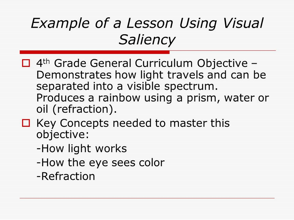 Example of a Lesson Using Visual Saliency