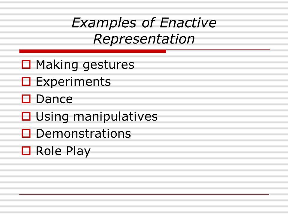 Examples of Enactive Representation