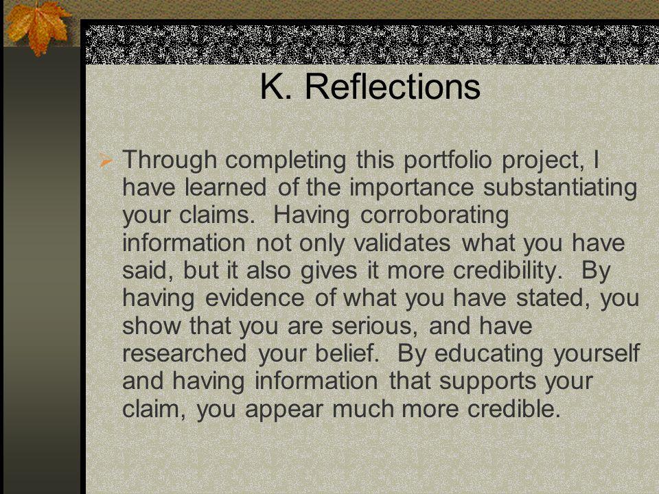 K. Reflections