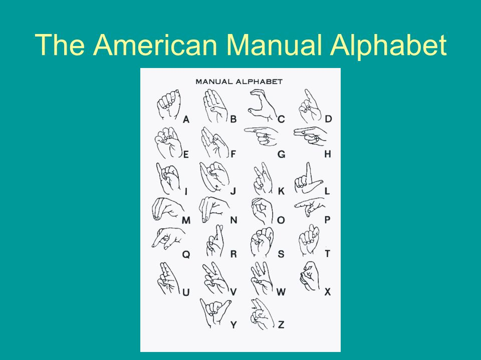 The American Manual Alphabet